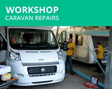 Workshop caravan repairs