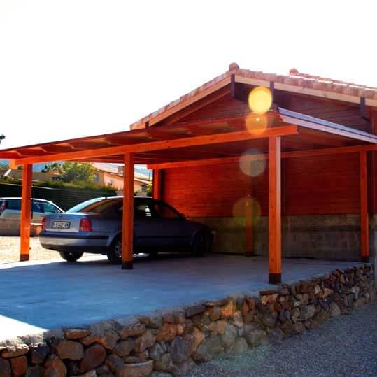 Movilrodan casa de madera de 100 m2 40 m2 porche - Casas con porches de madera ...