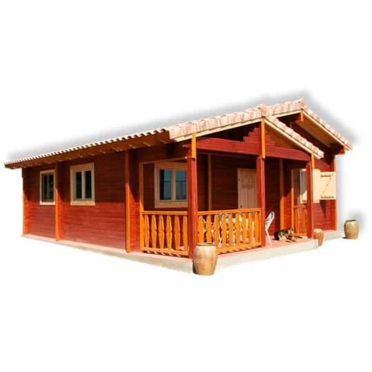 Movilrodan casa madera 55 m2 12 m2 de porche - Casas con porches de madera ...