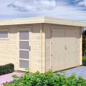 Garaje de madera C, 18 m2