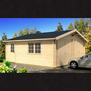Garaje de madera D, 28,5 m2