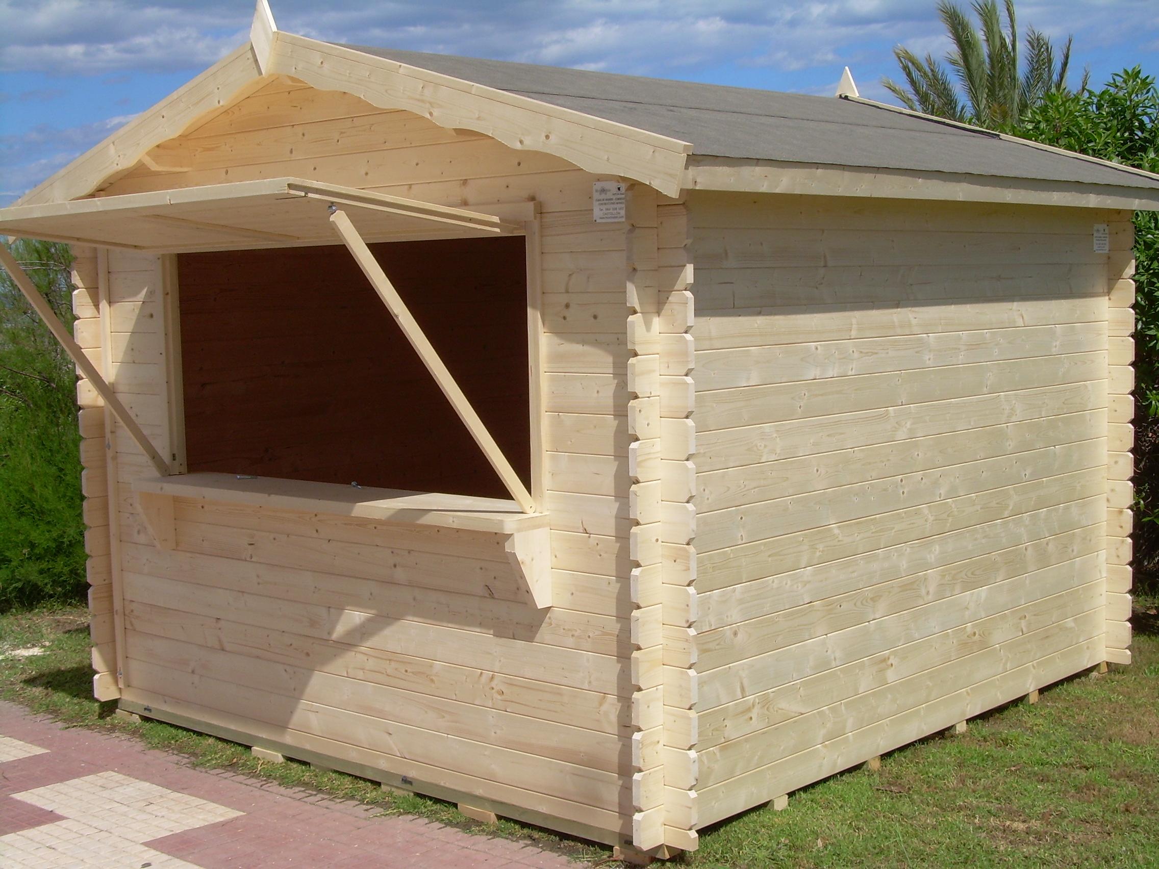 Movilrodan kiosco de madera kitty for Kioscos prefabricados de madera