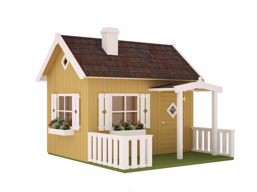 Movilrodan casita de madera para ni os otto for Casitas de madera para jardin para ninos
