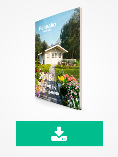 Descarga el catálogo casas de madera y complementos de jardín Palmako