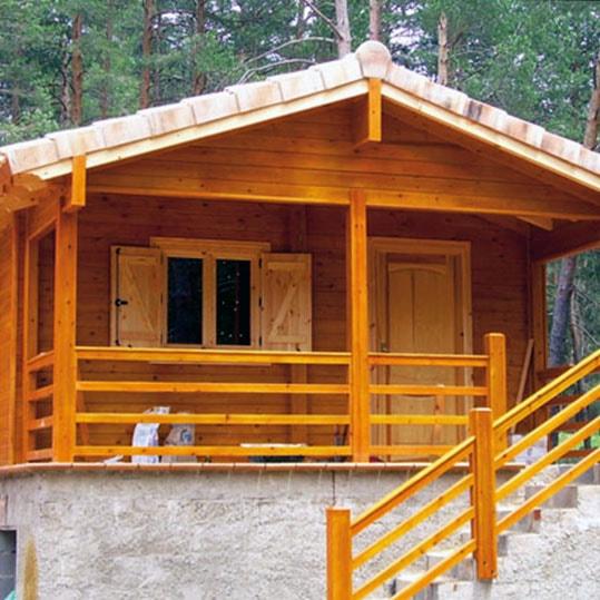 Casa de madera 25 + 7 m2 porche